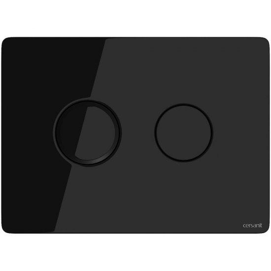 Przycisk spłukujący pneumatyczny ACCENTO CIRCLE szkło czarne