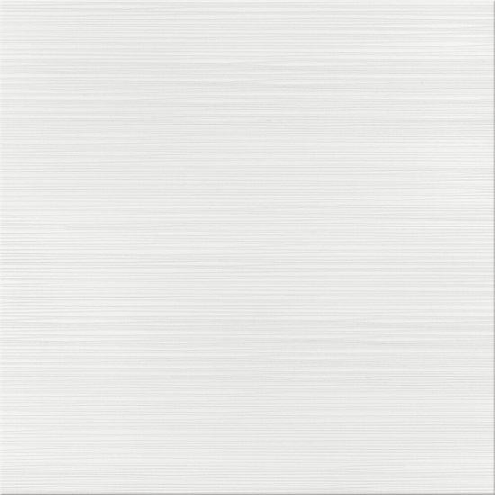 Gres szkliwiony DELICATE LINES white satyna 42x42 gat. I