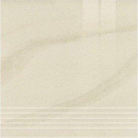 Gres zdobiony stopnica KANDO bianco poler 29,55x29,55 gat. I