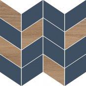 Płytka ścienna mozaika LOVE YOU NAVY dark blue half satin 29x29 gat. I