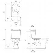 Kompakt WC MERIDA deska polipropylenową wolnoopad