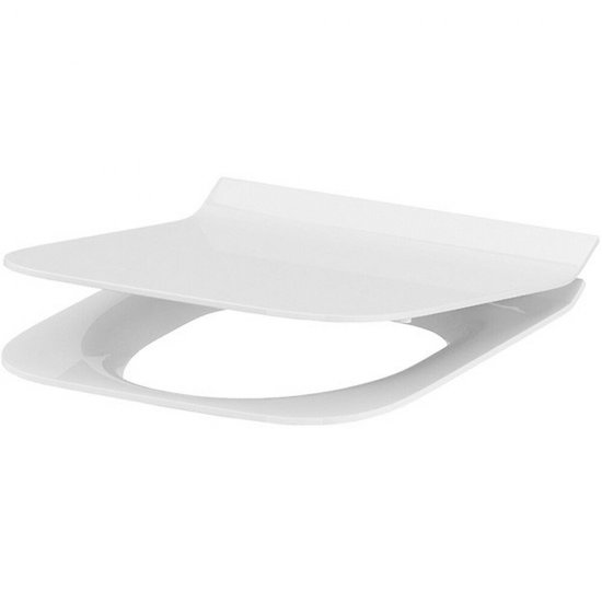 Deska sedesowa CREA prostokątna duroplast wolnoopad łatwe wyp one button