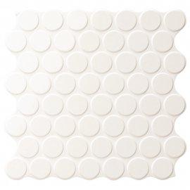 Gres szkliwiony hiszpański Realonda CIRCLE GLOSSY white 30,9x30,9 gat. I