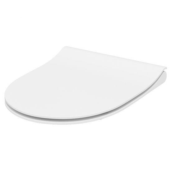 Deska sedesowa mille slim duroplast wo łw one button biała