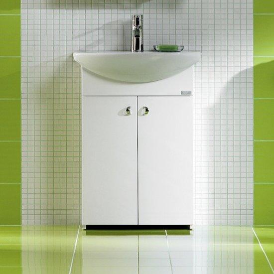 Szafka podumywalkowa BIANCO pod umywalkę CERSANIA NEW 55 biała DSM