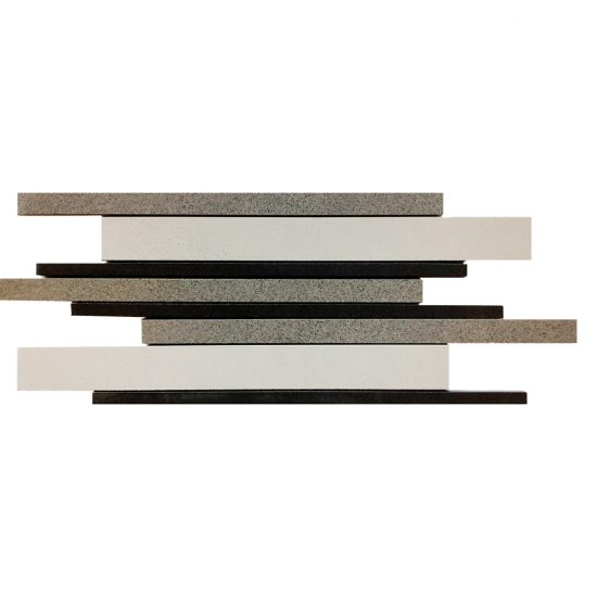 Gres zdobiony KANDO multikolor jasny mozaika paski mat 14,7x41 gat. I