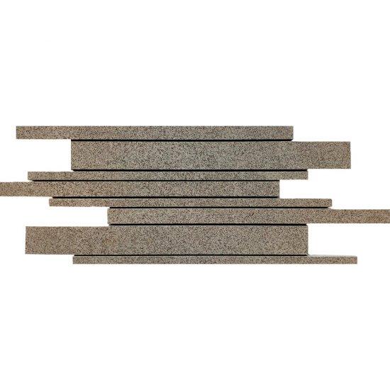 Gres zdobiony KANDO szary mozaika paski mat 14,7x41 gat. I