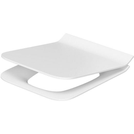 Deska sedesowa COMO SLIM prostokątna duroplast wolnoopad z łatwym wyp one button antybakt