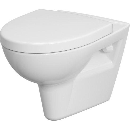 Miska WC podwieszana SET 547 PARVA NEW CLEAN ON deska duroplast