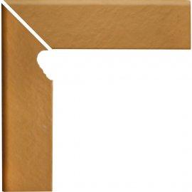 Klinkier SIMPLE SAND sand cokół schodowy lewy struktura mat 8x30 gat. I