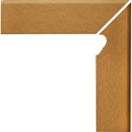 Klinkier SIMPLE SAND sand cokół schodowy prawy struktura mat 8x30 gat. I