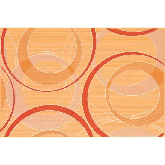 Płytka ścienna inserto ATOLA orange koła glossy 30x45 gat. I