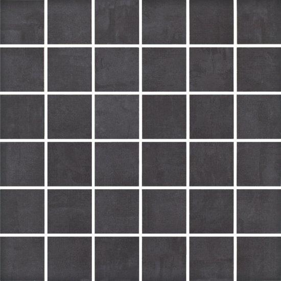 Gres szkliwiony FARGO czarny mozaika satyna 29,7x29,7 gat. I
