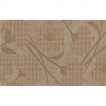 Płytka ścienna inserto LAVANDE brown flower glossy 25x40 gat. I