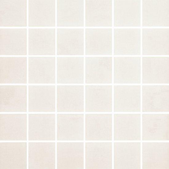 Gres szkliwiony FARGO biały mozaika satyna 29,7x29,7 gat. I