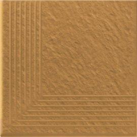Klinkier SIMPLE SAND sand stopnica narożna struktura mat 30x30 gat. I