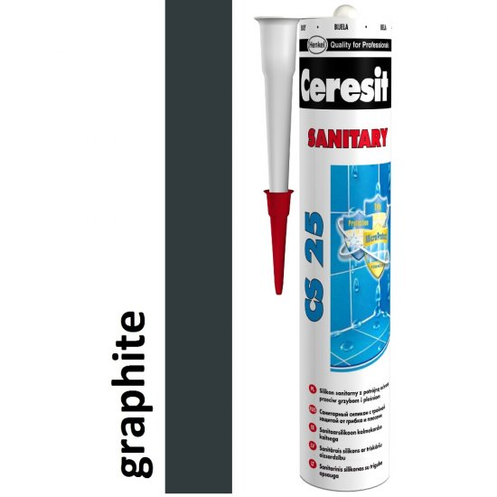 Silikon sanitarny CERESIT CS 25 graphite 280 ml