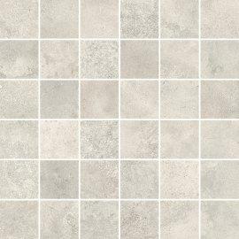 Gres szkliwiony mozaika QUENOS white mat 29,8x29,8 gat. I
