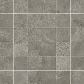 Gres szkliwiony mozaika QUENOS grey mat 29,8x29,8 gat. I