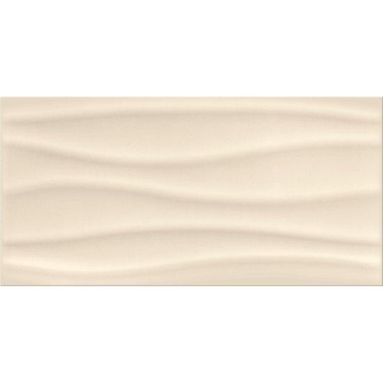 Płytka ścienna BASIC PALETTE beige wave structure glossy 29,7x60 gat. I
