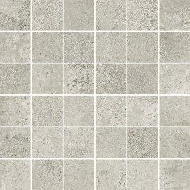 Gres szkliwiony mozaika QUENOS light grey mat 29,8x29,8 gat. I