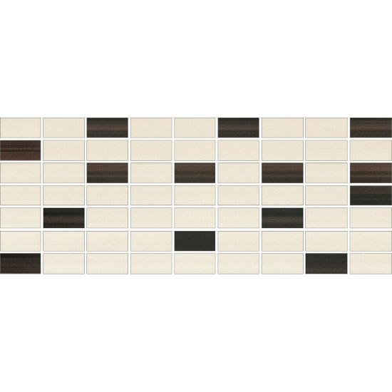 Płytka ścienna ORGANZA kremowa mozaika mix A mat 20x50 gat. I