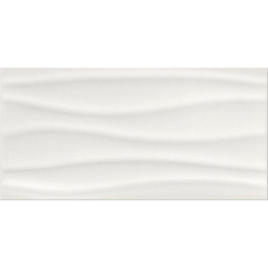 Płytka ścienna BASIC PALETTE white wave structure glossy 29,7x60 gat. I