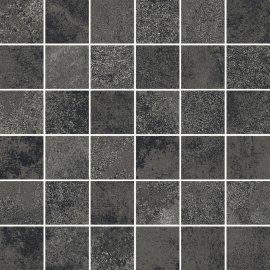 Gres szkliwiony mozaika QUENOS graphite mat 29,8x29,8 gat. I