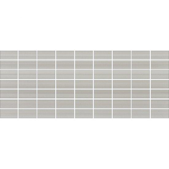 Płytka ścienna mozaika ORGANZA szara mat 20x50 gat. I