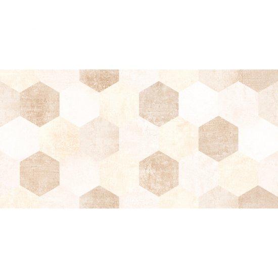 Płytka ścienna CEMENTO SYDNEY dark hexagone beige shiny 30x60 gat. I