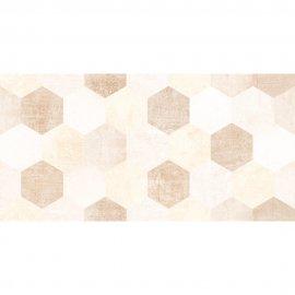 Płytka ścienna CEMENTO SYDNEY DARK HEXAGONE SHINY beige błyszcząca 30x60 gat. I