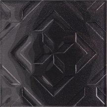 Płytka ścienna inserto CUBAN CUBE graphite glossy 20x20 gat. I