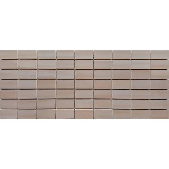 Płytka ścienna mozaika CAPRI brąz glossy 20x50 gat. I