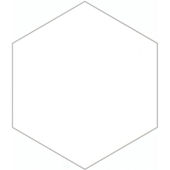 Gres szkliwiony SOLID HEXAGON white mat 21,5x25 gat. I