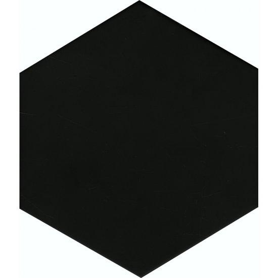 Gres szkliwiony SOLID HEXAGON black mat 21,5x25 gat. I