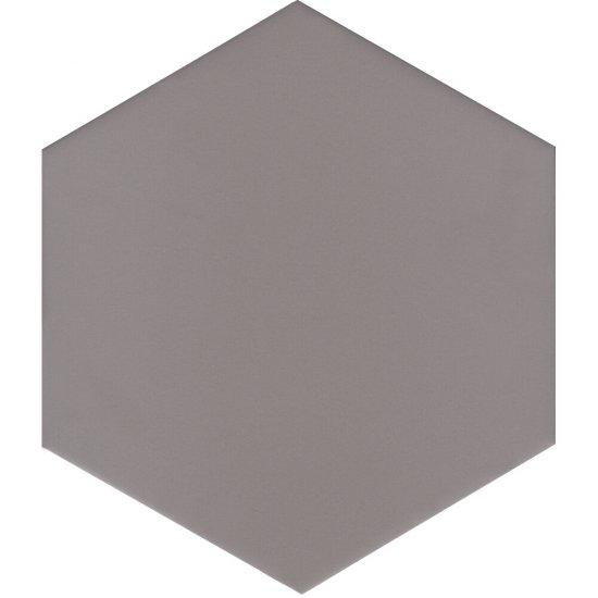 Gres szkliwiony SOLID HEXAGON grey mat 21,5x25 gat. I