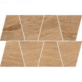 Gres szkliwiony mozaika GRAND WOOD RUSTIC light brown trapeze mat 19x30,6 gat. I