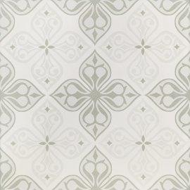 Gres szkliwiony PATCHWORK CONCEPT white-grey flores satin 29,8x29,8 gat. I