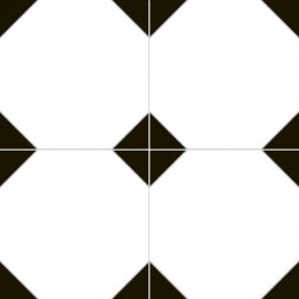 Płytka podłogowa CAMBRIDGE white-black mat 45x45 gat. I
