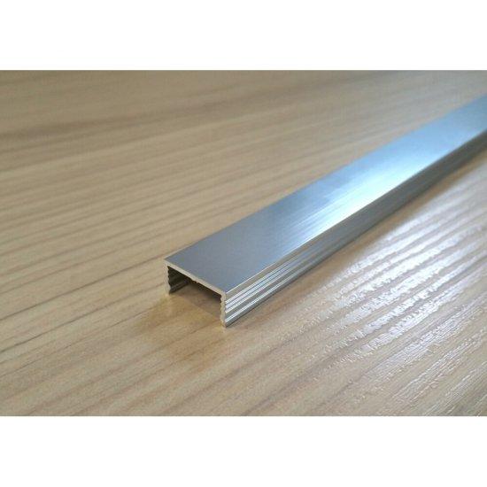Listwa aluminiowa polerowana silver 1,5 x 250