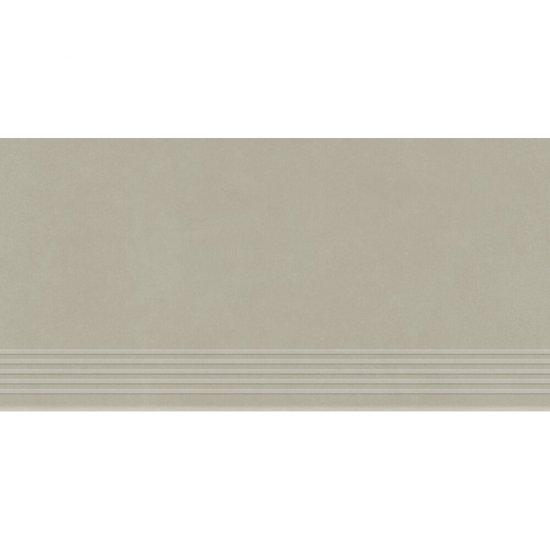 Gres zdobiony stopnica URBAN MIX light grey mat 29,55x59,4 gat. I