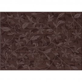 Płytka ścienna inserto TANAKA brown flower 25x40 gat. I