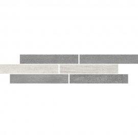 Gres szkliwiony mozaika HARMONY grey mat 7,3x34,7 gat. I