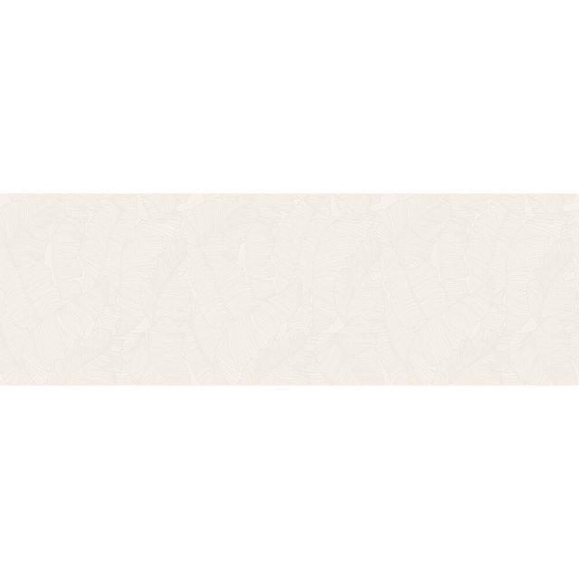 Płytka ścienna GREEN SHOW LEAVES white satyna 39,8x119,8 gat. I