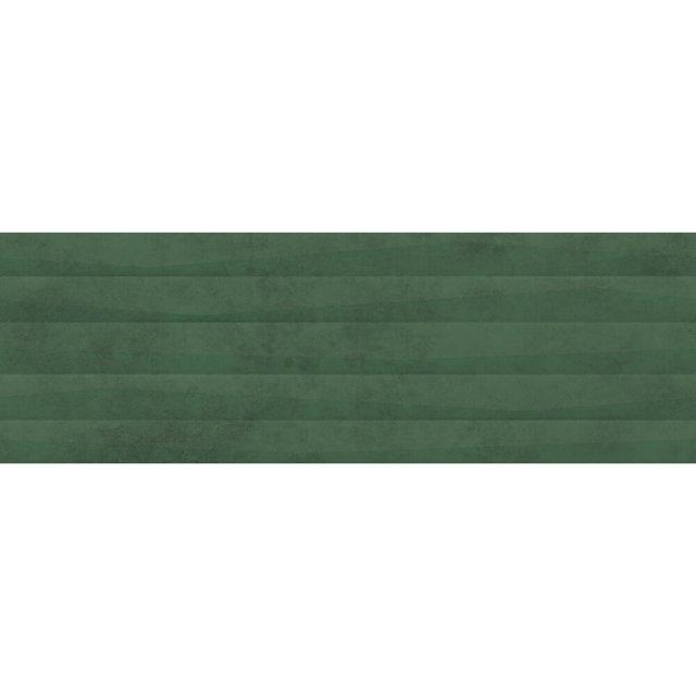 Płytka ścienna GREEN SHOW green structure satin 39,8x119,8 gat. I