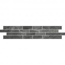Gres szkliwiony NOIR grey mozaika mat 12x60 gat. I