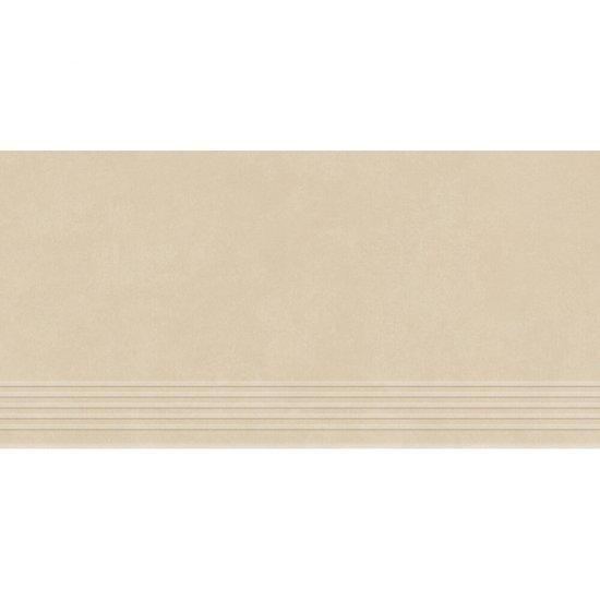 Gres zdobiony stopnica URBAN MIX cream mat 29,55x59,4 gat. I