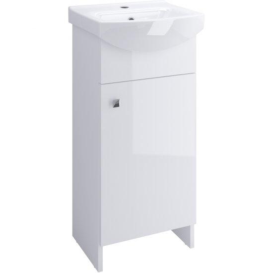 Szafka z umywalką w zestawie SATI CERSANIA 40 biała DSM