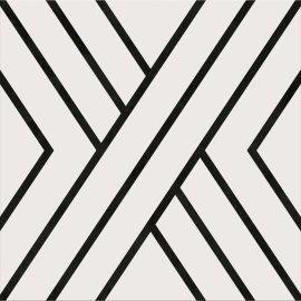 Gres szkliwiony PANEL white-black 29,8x29,8 gat. I