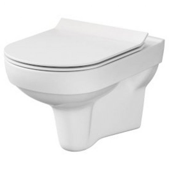 Miska WC podwieszana CITY NEW deska duroplastowa wolnoopad